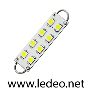 1 ampoule navette 44mm c5w  festoon  à 8 Led  smd