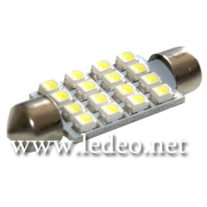 2 ampoules navettes 41 mm c5w  festoon  à 16 Led  smd