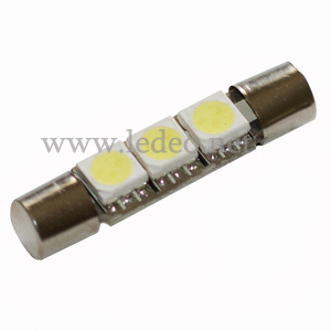 2 ampoules navettes 29mm  SLIM c5w  festoon  à 3 Led  smd