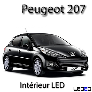 ampoule led smd eclairage xenon veilleuses plafonnier int rieur peugeot 207. Black Bedroom Furniture Sets. Home Design Ideas