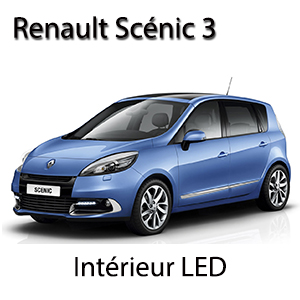 kit clairage led int rieur pour renault scenic 3 pack complet boutique. Black Bedroom Furniture Sets. Home Design Ideas